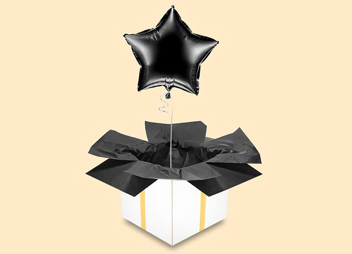 Balon foliowy czarna gwiazda