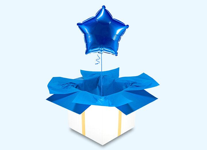 Balon foliowy niebieska gwiazda