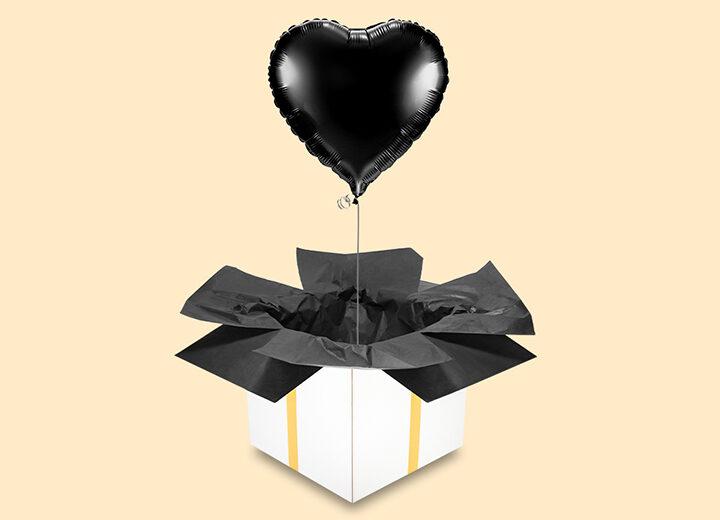 Balon foliowy czarne serce