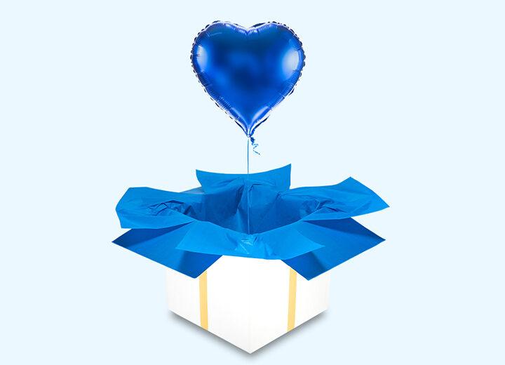 Balon foliowy niebieskie serce