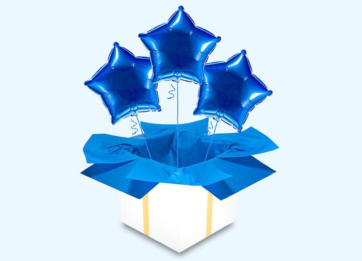 Balony foliowe niebieskie gwiazdy