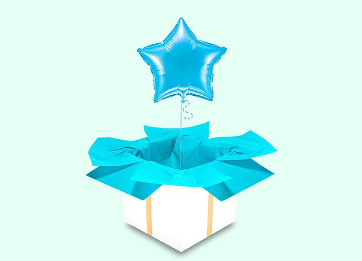 Balon błękitna gwiazda
