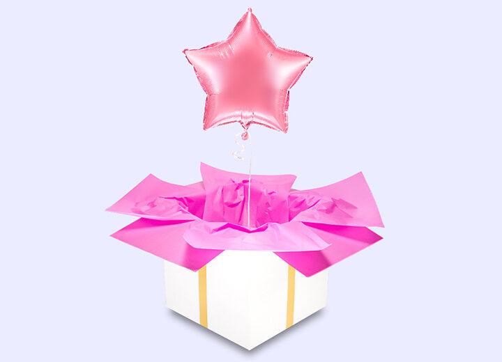 Balon różowa gwiazda