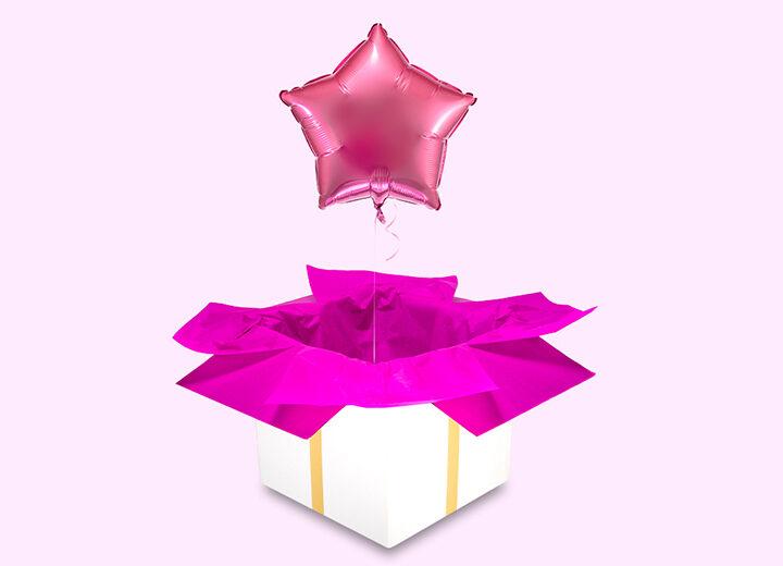 Balon foliowy różowa gwiazda