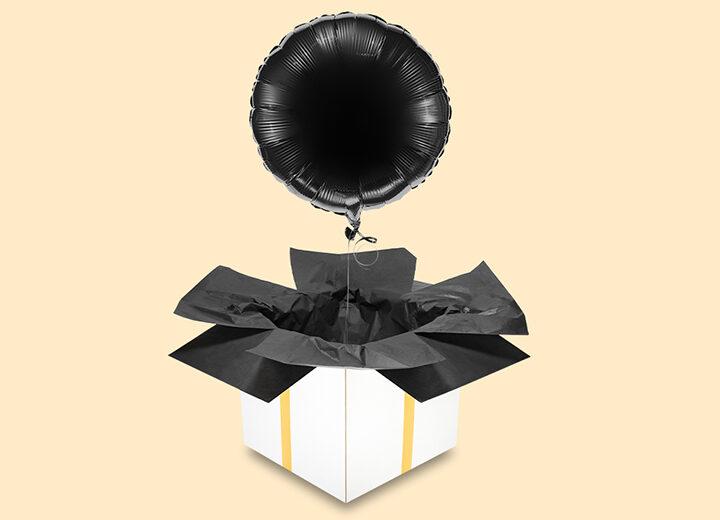 Balon foliowy czarne koło