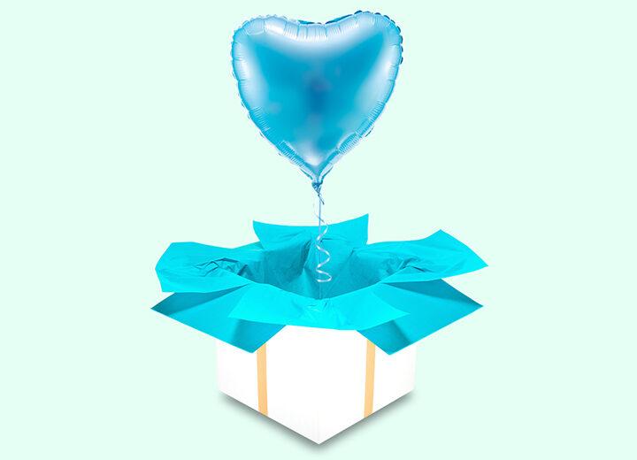 Balon błękitne serce