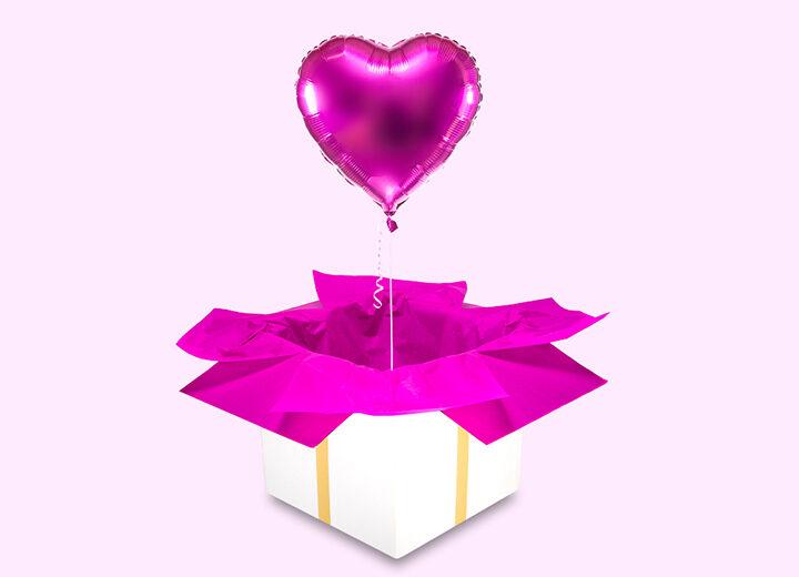 Balon foliowy różowe serce