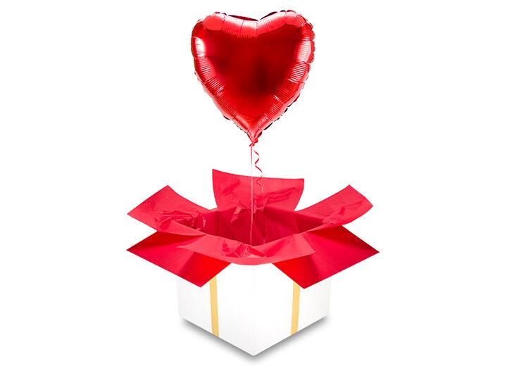 balon czarwone serce