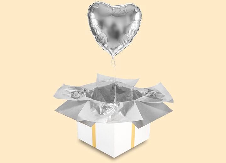 balon foliowy srebrne serce