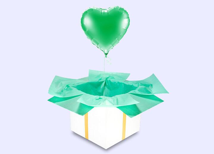 Balon foliowy zielone serce