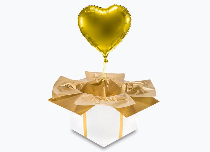 balon foliowy złote serce