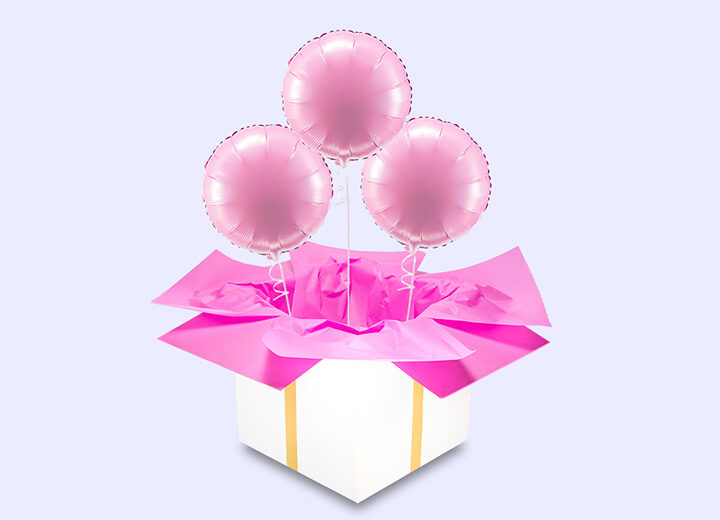 Balony foliowe trzy różowe koła