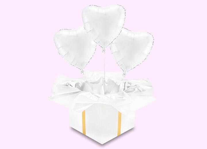 Balony foliowe białe serca