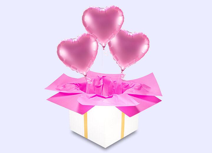 Trzy różowe serca