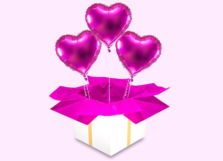 Balony foliowe trzy różowe serca