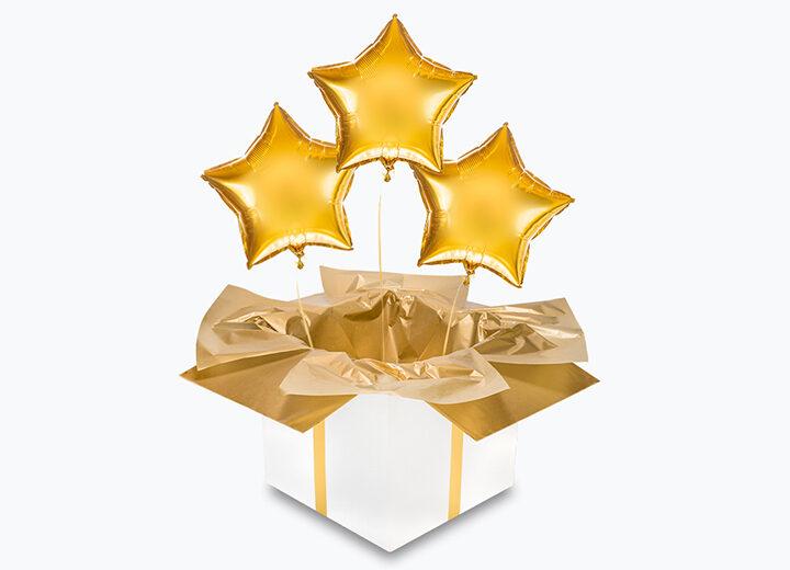 Balony foliowe złote gwiazdy