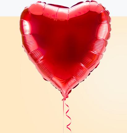 Czerwone serce foliowe