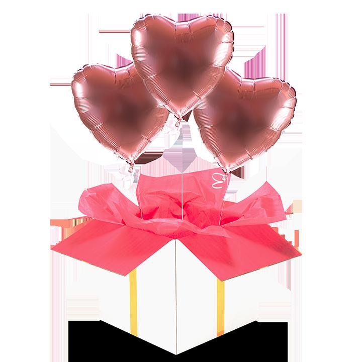 Slider Trzy serca różowe złoto